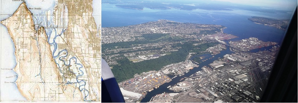 Duwamish River and Harbor Island - Before and After